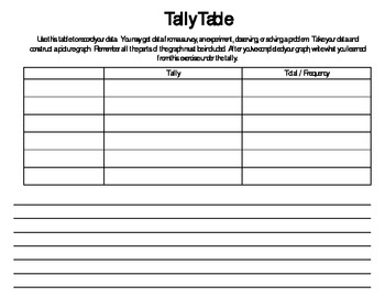 FREE Picture Graph with Tally Table