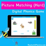 FREE! Online Picture Matching Phonics Game (Hard) | Word C