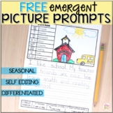 FREE Picture Writing Prompts - DIFFERENTIATED Prompts with