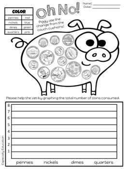 FREE Piggy Coin Counting