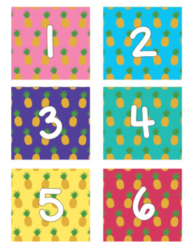 FREE Pineapple Book Box Number Labels