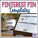 FREE Pinterest Pin Templates for TpT Sellers 2019-2021