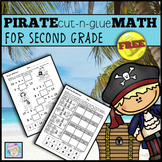 Math Review Packet 2nd | Math Worksheets for 2nd Pirate Theme FREE