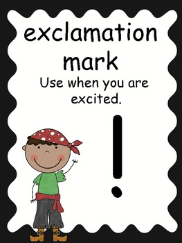 FREE Pirate Punctuation Posters