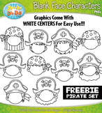 FREE Pirates Blank Face Characters Clipart {Zip-A-Dee-Doo-Dah Designs}