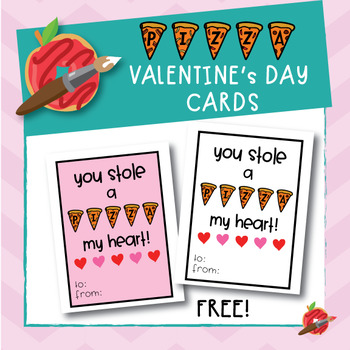 FREE Pizza Valentine's Day cards