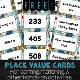 FREE Place Value Cards for sorting, matching, and other base ten activities