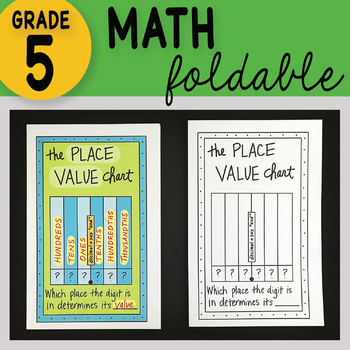 FREE Place Value Chart Math Interactive Notebook Foldable FREE