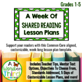 Weekly Shared Reading Lesson Plan Template (Common Core-Al