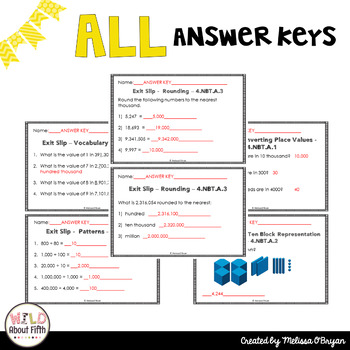 Place Value Exit Ticket Slips FREE