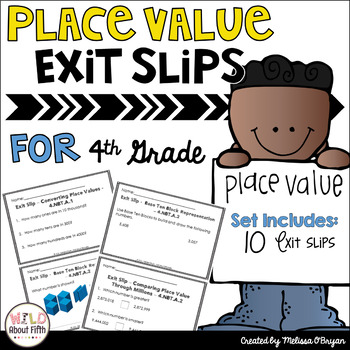 FREE Place Value Exit Slips