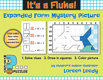 "FREE Place Value Expanded Form Mystery Picture ""It's a Fluke!"""