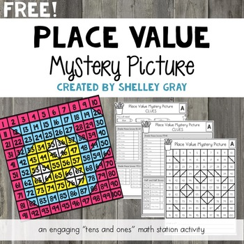 FREE Place Value Mystery Picture: Tens and Ones Place Value Practice