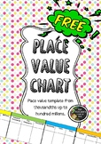 FREE! Place Value Number Chart