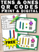 FREE QR Codes Math Place Value Task Cards, Tens and Ones Games