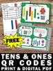 FREE Place Value Tens and Ones MAB Task Cards QR Codes 1st