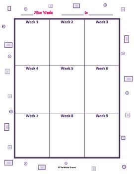 Lesson Planning Calendar Grid 9 weeks FREE