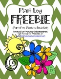 FREE Plant Log for a Unit on Plants & Seeds