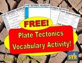 FREE Plate Tectonics Vocabulary Activity!