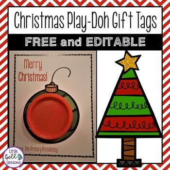 FREE Play-Doh Christmas Tags for Class Gifts