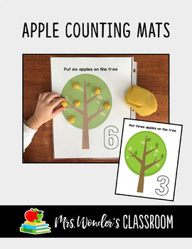 FREE Play Dough Counting Mats - Apple Counting Activity - Kindergarten Numbers