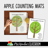 FREE Play Dough Counting Mats - Apple Counting Activity -