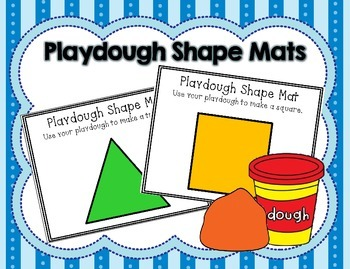 FREE Playdough Shape Mats