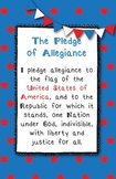 *FREE* Pledge of Allegiance 11x17 Poster