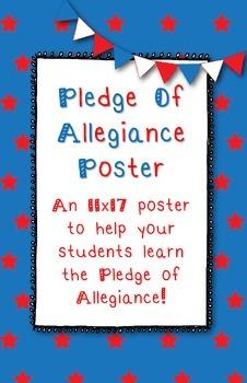 *FREE* Pledge of Allegiance 11x17 Poster