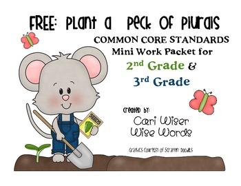 FREE Plural Nouns- Plant a Peck of Plurals! - Common Core