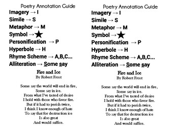 FREE Poetry Annotation Notes and Poem