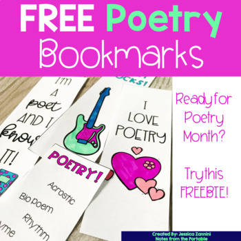FREE Poetry Bookmarks