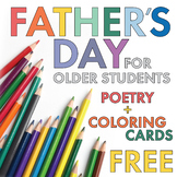 FREE Poetry Lesson, Father's Day Card Materials for Older Students/Teens