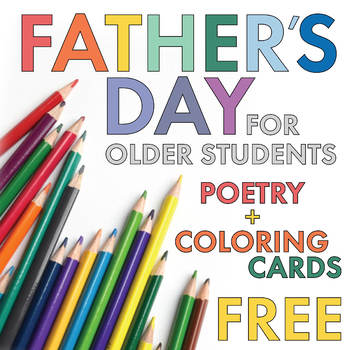 FREE Poetry Lesson, Father's Day Card Materials for Older