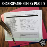 "Poetry Mad Lib FREE: Shakespeare's ""Shall I Compare Thee t"