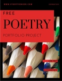 FREE Poetry Portfolio Project for Middle Grades