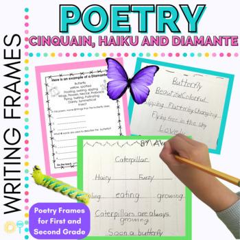 Poetry Frames for Cinquain, Haiku and Diamante Poetry Grades 1-4 FREE