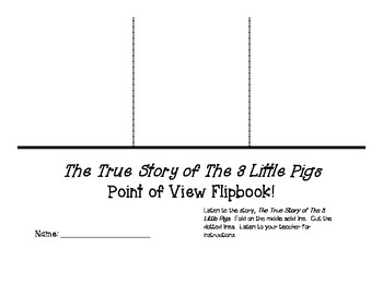 FREE!! Point of View Flipbook using The True Story of the