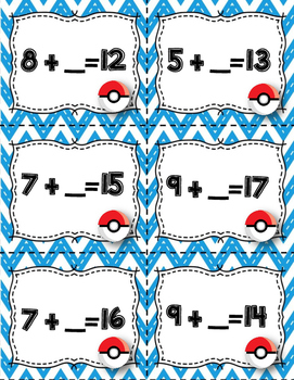 FREE Pokemon Clip Cards Math Story Problems