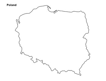 graphic regarding Printable Map of Poland titled Free of charge - Poland Map Determine by means of The Harstad Variety TpT