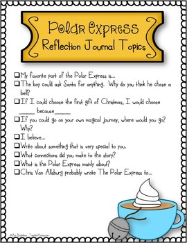Polar Express Journal Topics and Writing Paper ~ Christmas