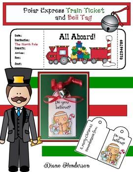 "FREE ""Polar Express"" Train Ticket & Gift Tag"