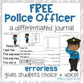 FREE Police Officer Differentiated Journal Writing for Spe