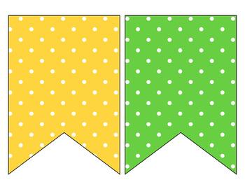 FREE Polka Dot Banner for the Classroom - Polka Dot Classroom Decor