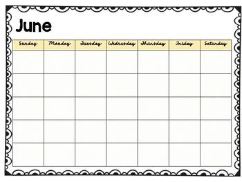 FREE Polka Dot Blank Calendars!