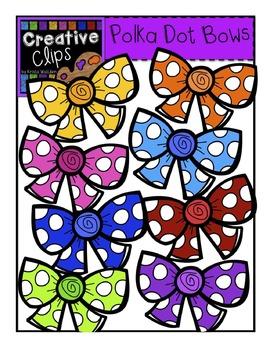 FREE Polka Dot Bows {Creative Clips Digital Clipart}