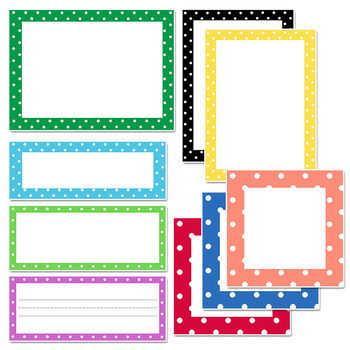 polka dot label templates