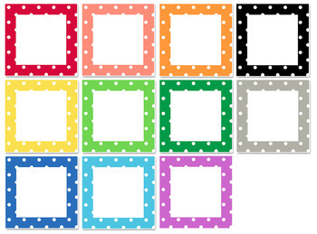 FREE Polka Dot Classroom Labels by Karen Cox Teachers