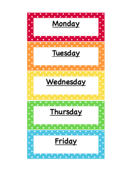 *FREE* Polka Dot Classroom Labels