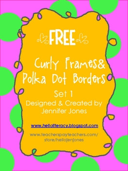 FREE Polka Dot Frames with Curly Borders